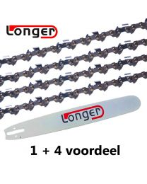 "1 + 4 combinatie set 70cm 3/8"" 1,6mm Longer (91E)"