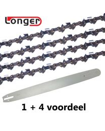 "1 + 4 combinatie set 70cm 3/8"" 1,5mm Longer (92E)"