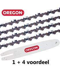 "1 + 4 combinatie set 30cm 3/8""LP 1,1mm Oregon (44E)"