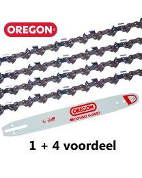 """1 + 4 combinatie set 35cm 3/8""""LP 1,1mm Oregon (50E)"""