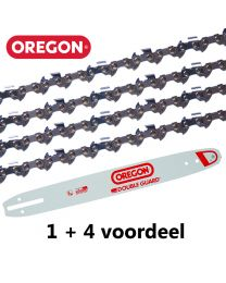 "1 + 4 combinatie set 35cm 3/8""LP 1,1mm Oregon (52E)"