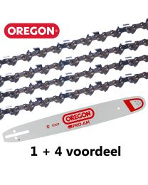 "1 + 4 combinatie set 37cm .325"" 1,6mm Oregon (62E)"