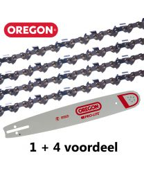 "1 + 4 combinatie set 45cm .325"" 1,3mm Oregon (72E)"