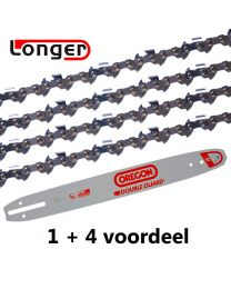 "1 + 4 combinatie set 40cm 3/8""LP 1,1mm Oregon (57E)"